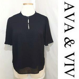 AVA & VIV | Flounce Sleeve Top